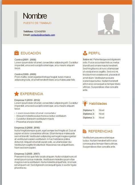 Ejemplo de curriculum vitae para rellenar jpg 711x973